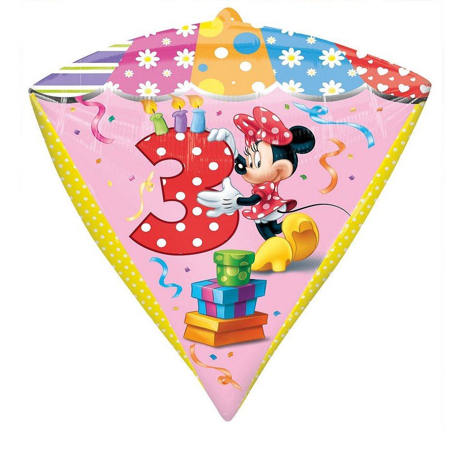 Amscan Folienballon Minnie Maus Zahl 3