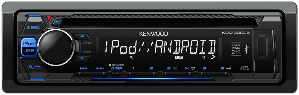 Kenwood 1-DIN Digitalautoradio »KDC-200UB« in schwarz