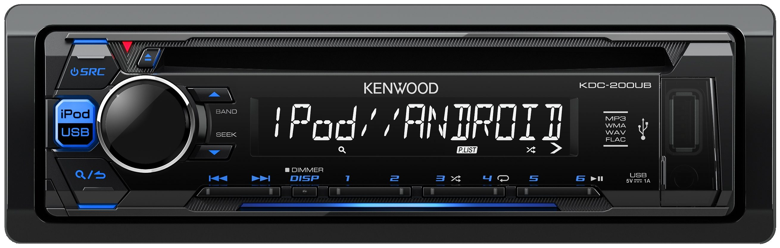 Kenwood 1-DIN Digitalautoradio »KDC-200UB«