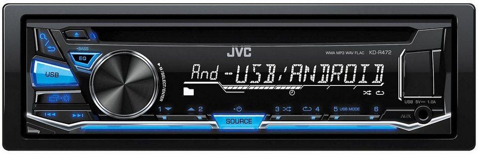 JVC 1-DIN CD-Receiver »KD-R472E« in schwarz