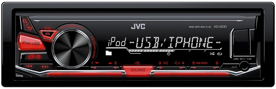 JVC 1-DIN Digital-Media-Receiver BT »KD-X230E« in schwarz