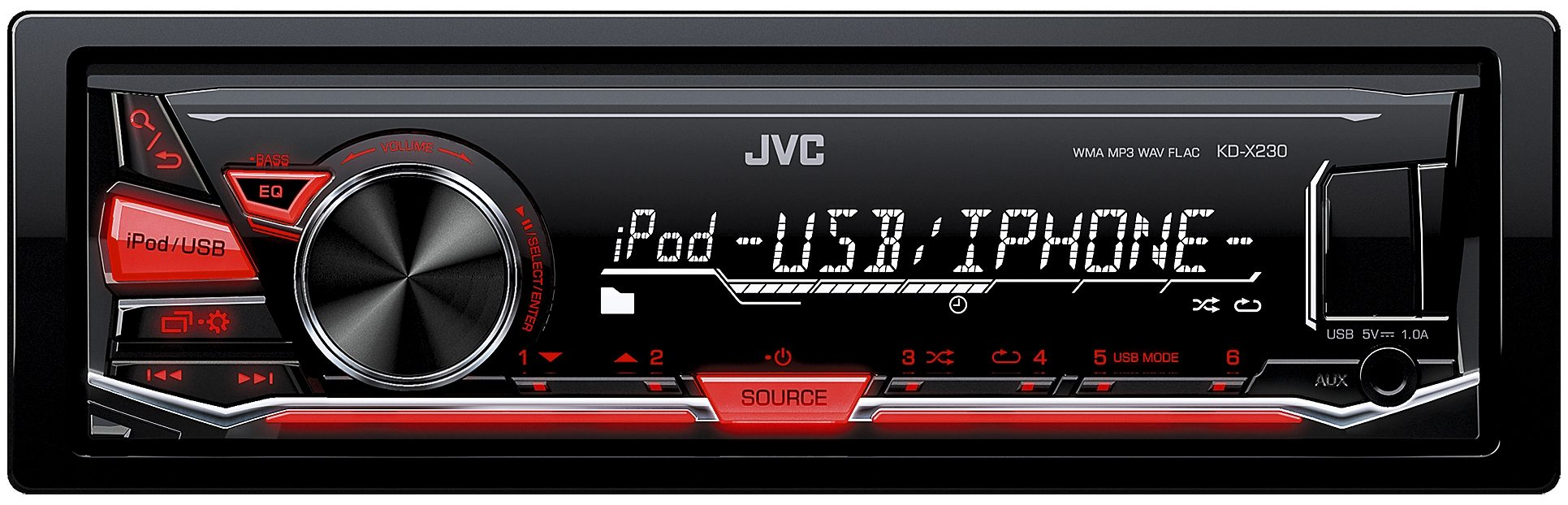 JVC 1-DIN Digital-Media-Receiver BT »KD-X230E«