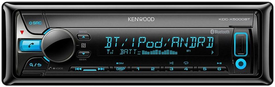 Kenwood 1-DIN Digitalautoradio »KDC-X5000BT« in schwarz
