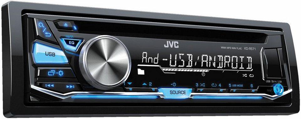 JVC 1-DIN Autoradio »KD-R571E« in schwarz