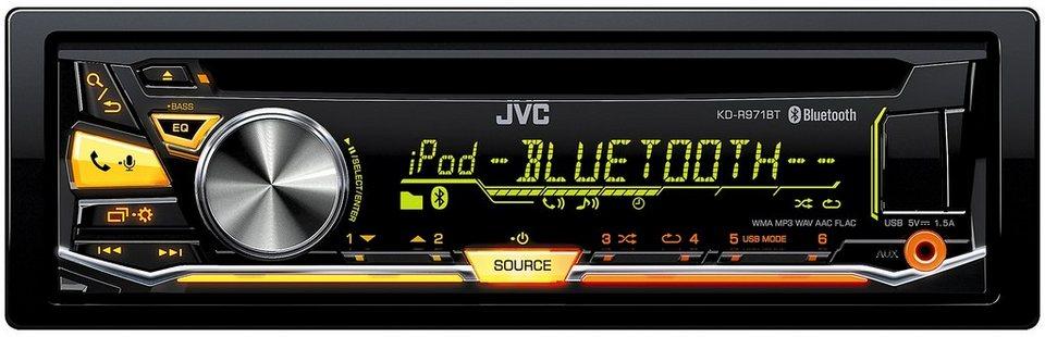 JVC 1-DIN Autoradio mit Bluetooth »KD-R971BT« in schwarz