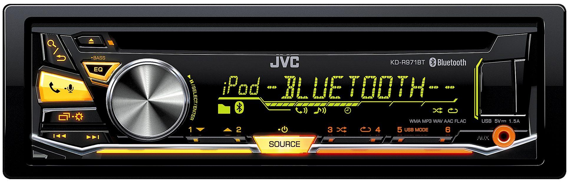 JVC 1-DIN Autoradio mit Bluetooth »KD-R971BT«