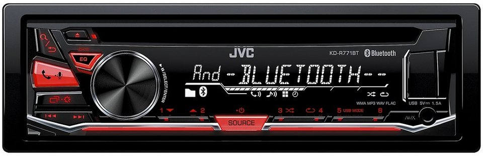 JVC 1-DIN Autoradio mit Bluetooth »KD-R771BT« in schwarz