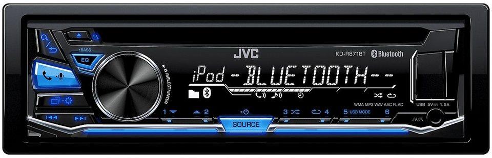 JVC 1-DIN Autoradio mit Bluetooth »KD-R871BT« in schwarz