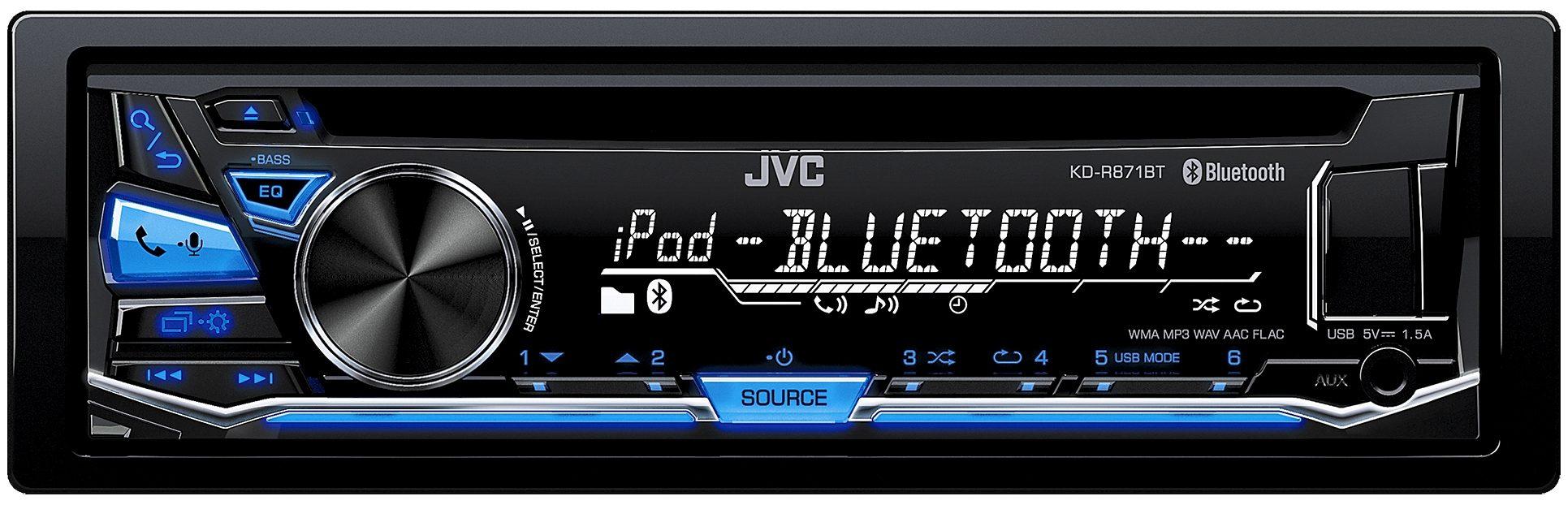 JVC 1-DIN Autoradio mit Bluetooth »KD-R871BT«
