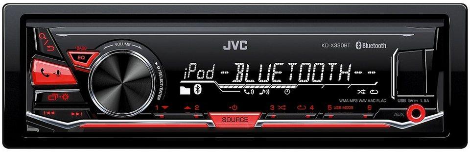JVC 1-DIN Digital-Media-Receiver BT »KD-X330BTE« in schwarz