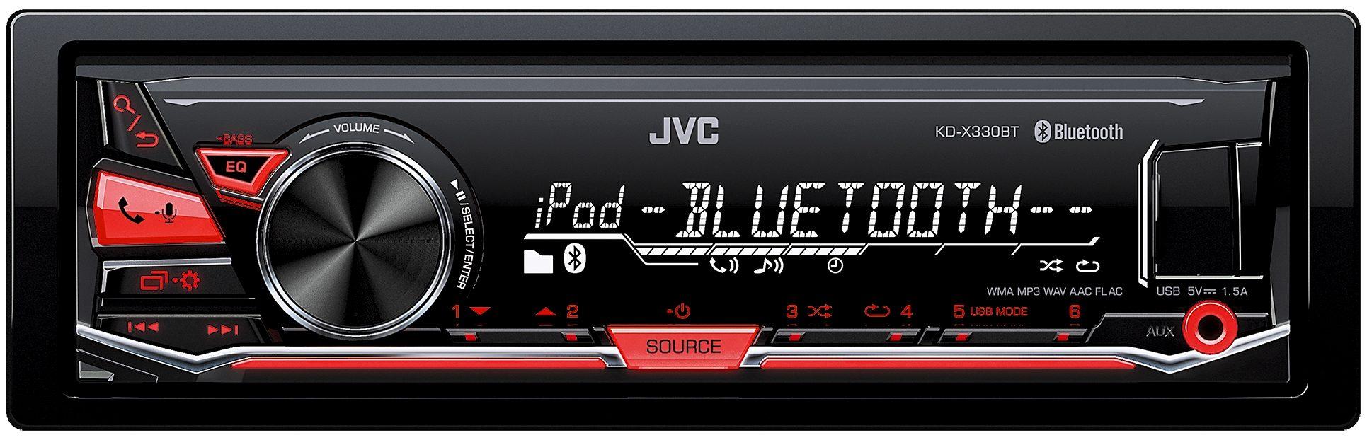JVC 1-DIN Digital-Media-Receiver BT »KD-X330BTE«
