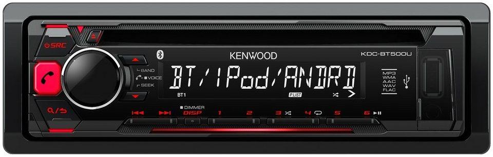 Kenwood 1-DIN Digitalautoradio »KDC-BT500U« in schwarz