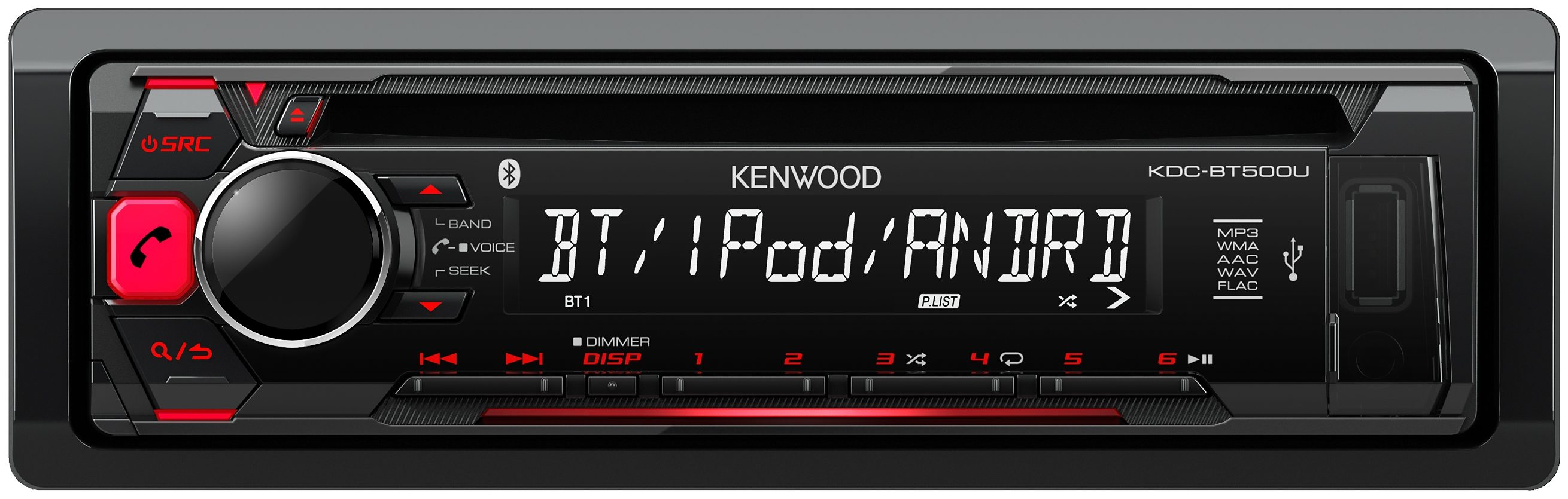 Kenwood 1-DIN Digitalautoradio »KDC-BT500U«
