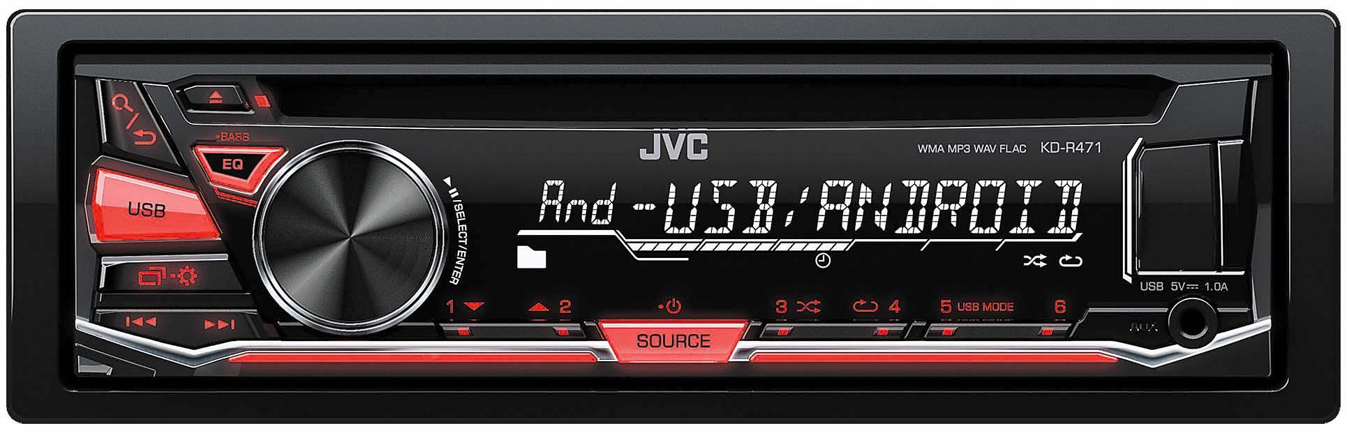 JVC 1-DIN CD-Receiver »KD-R471E«