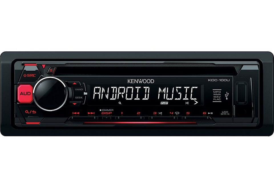 Kenwood 1-DIN Digitalautoradio »KDC100UR« in schwarz