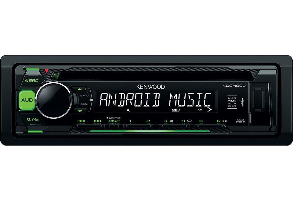 Kenwood 1-DIN Digitalautoradio »KDC100UG« in schwarz