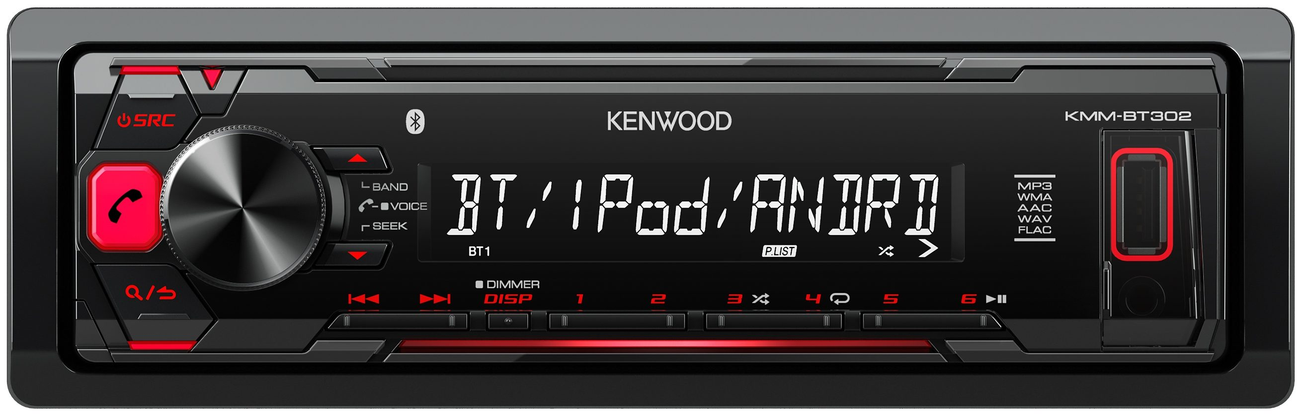 Kenwood 1-DIN Digital Media Receiver »KMM-BT302«