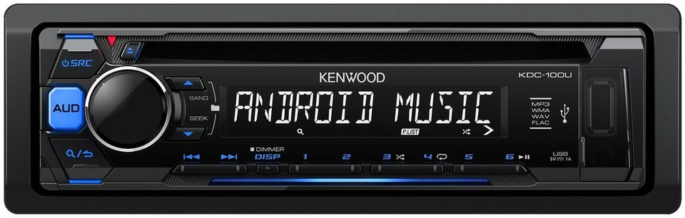 Kenwood 1-DIN Digitalautoradio »KDC100UB« in schwarz