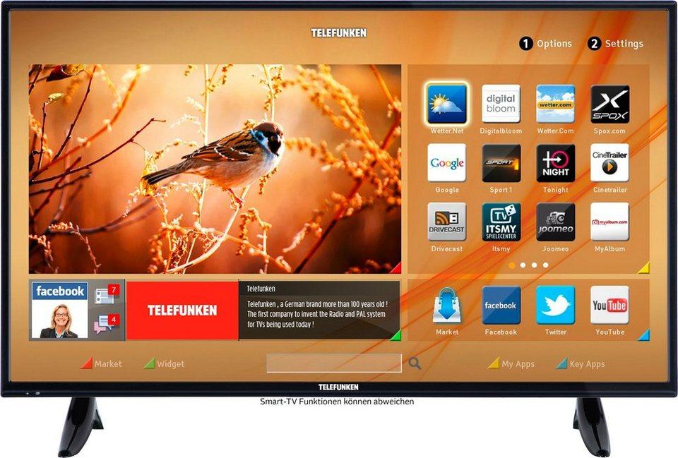 Telefunken D40F287M3CW, LED Fernseher, 102 cm (40 Zoll), 1080p (Full HD), Smart-TV in schwarz
