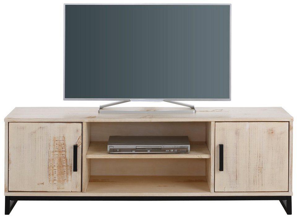 Home affaire TV-Lowboard »Santo«, Breite 150 cm in weiß/braun gewischt