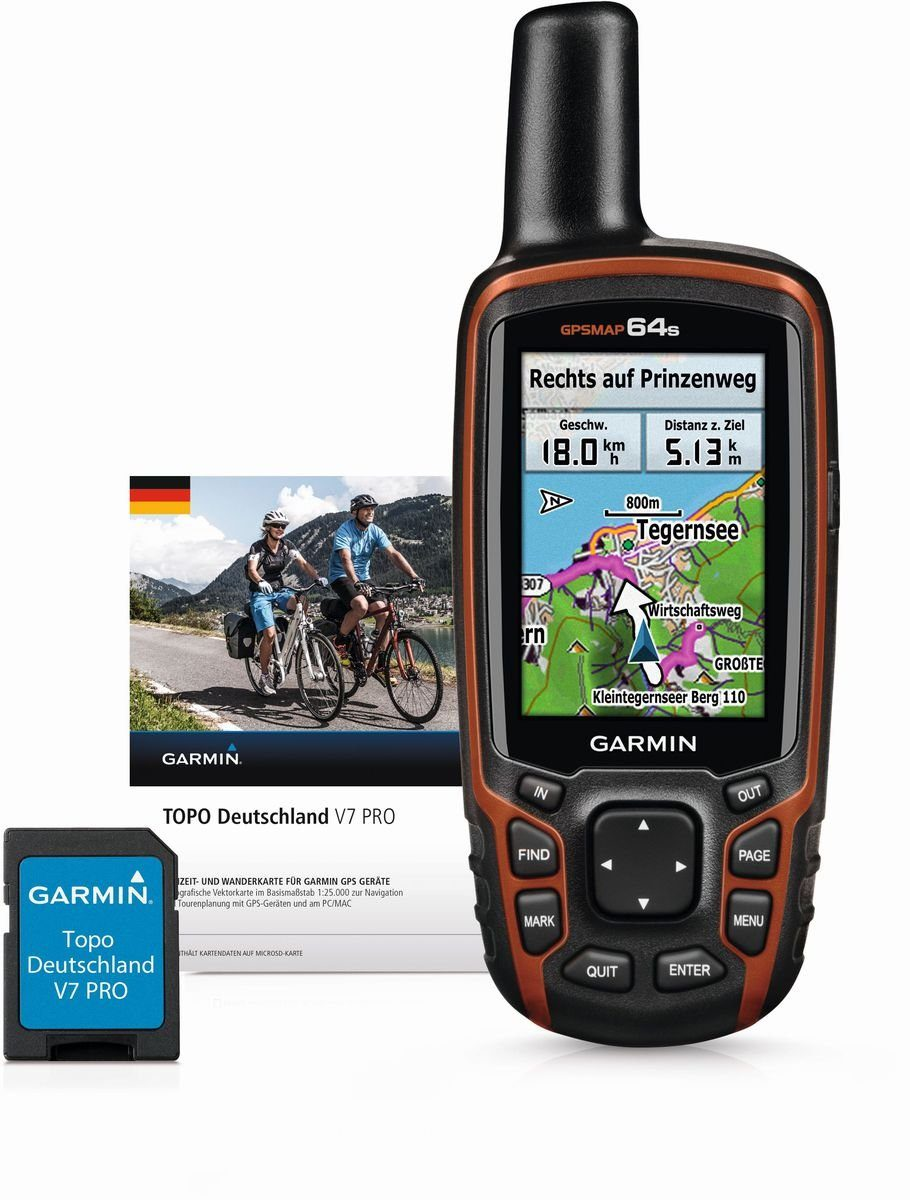 Garmin Navigationsgerät »GPSMAP 64st inkl. TOPO Deutschland V7 Pro«