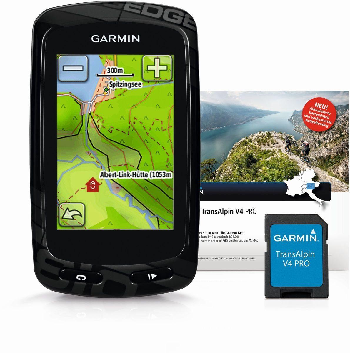 Garmin Fahrradnavigationsgerät »Edge 810 inkl. Topo TransAlpin V4 Pro (microSD)«