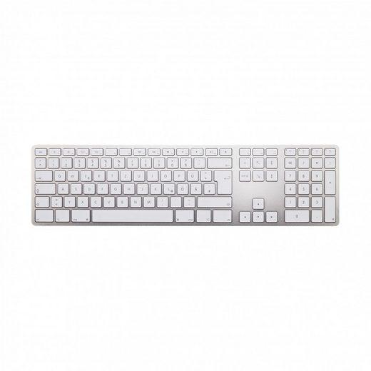 matias Apple-Tastatur (Matias Aluminum Wireless Bluetooth Tastatur Deutsch QWERTZ für Mac OS mit Multi-Connect Funktionalität FK418BTS-DE)