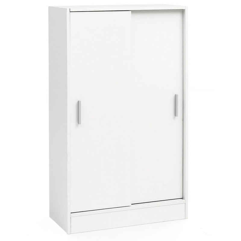 Wohnling Sideboard »WL5.817«, Aktenschrank Holz 60 x 107,5 x 28,5 cm Weiß, Design Mehrzweckschrank, Büroschrank Modern, Kommodenschrank Flurmöbel, Sideboard Flur Kommode, Kleiner Aufbewahrungsschrank