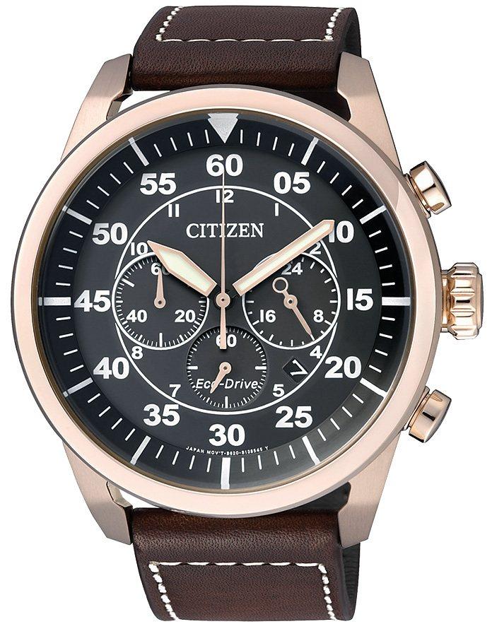 Citizen Chronograph mit Gangreserve, »CA4213-00E« in braun
