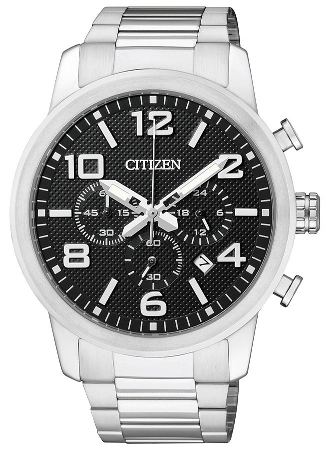 Citizen Chronograph mit Datum, »AN8050-51E« in silberfarben