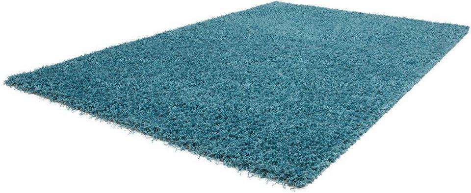Hochflor-Teppich, Lalee, »Relax«, Höhe ca. 40mm in blau