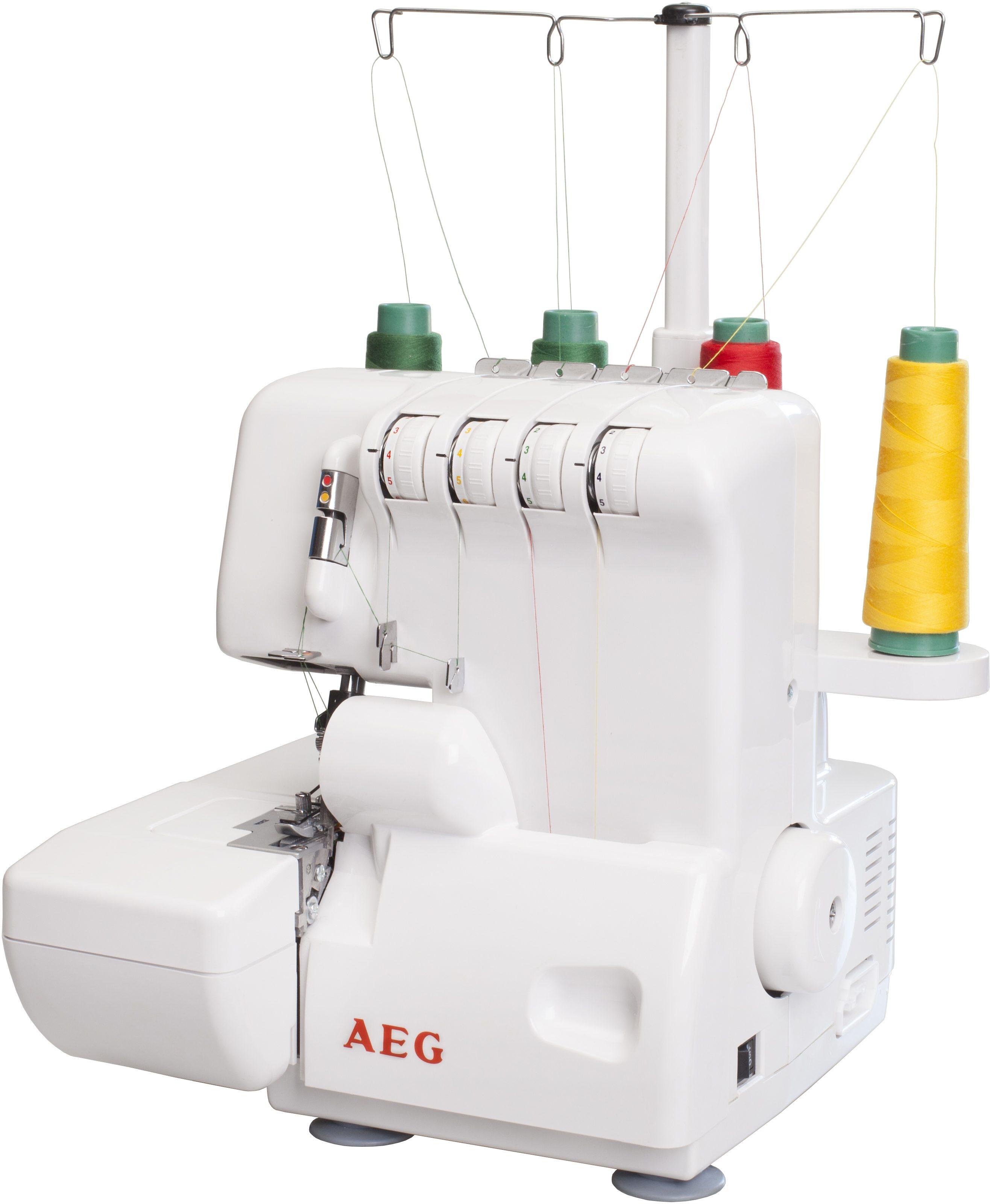 AEG Overlock-Maschine 3500, Programme, 5 Sticharten, mit Zubehör