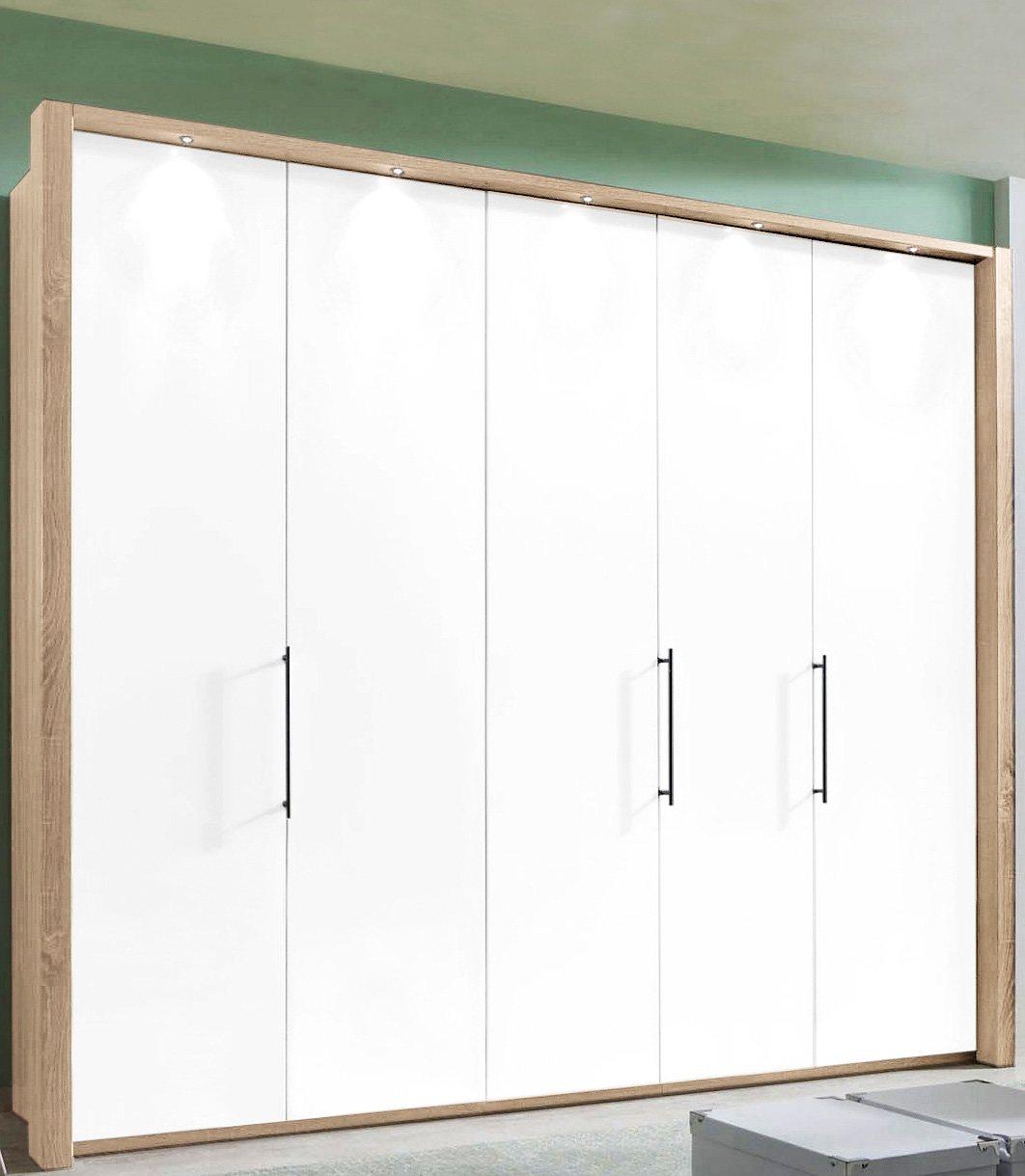 WIEMANN Panorama-Falttürenschrank »Loft« in 3 Breiten | Schlafzimmer > Kleiderschränke > Drehtürenschränke | Weiß | Metall | WIEMANN