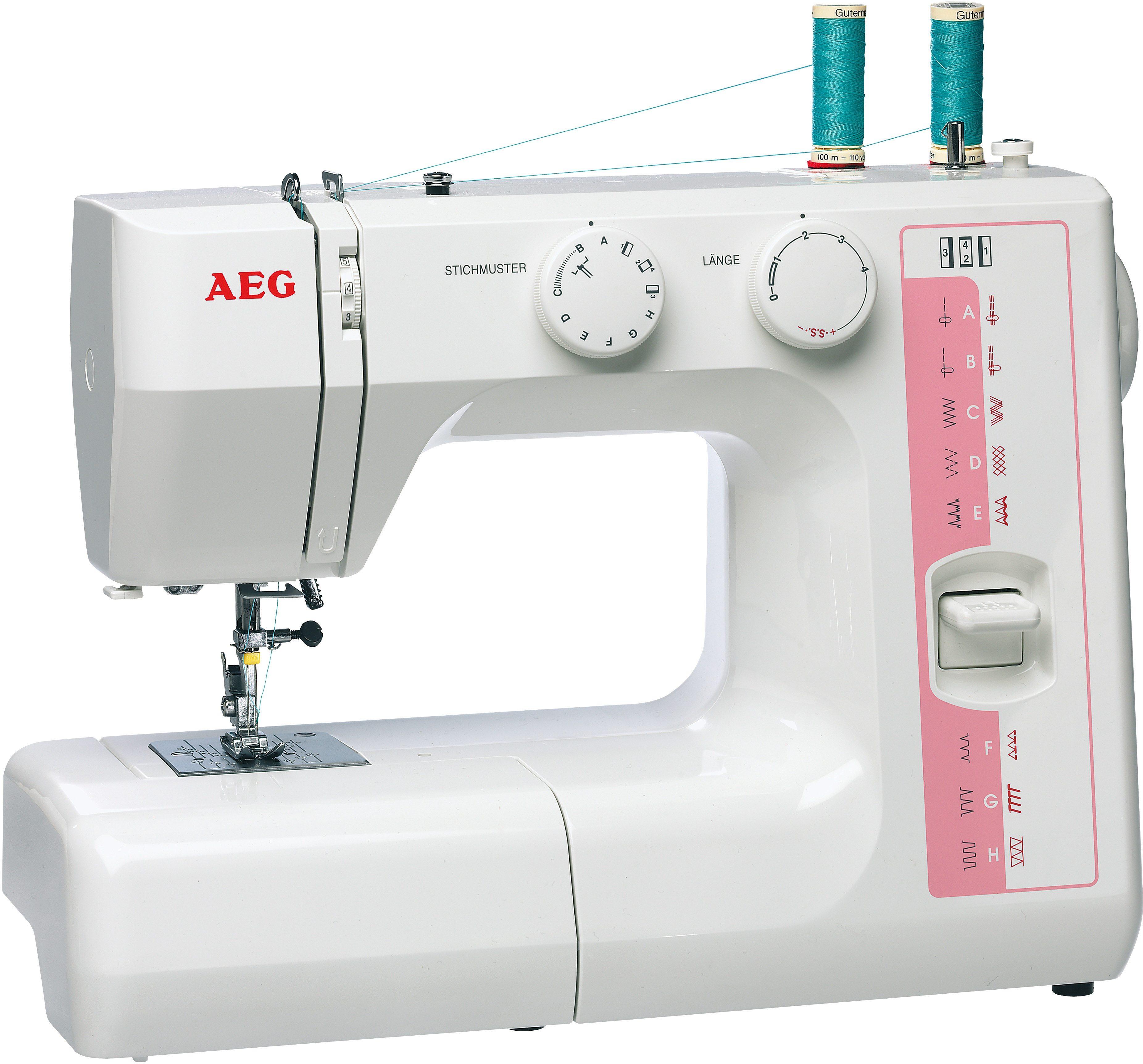 AEG Nähmaschine NM-1714, 24 Nähprogramme, mit Doppelnadelfunktion und Zubehör