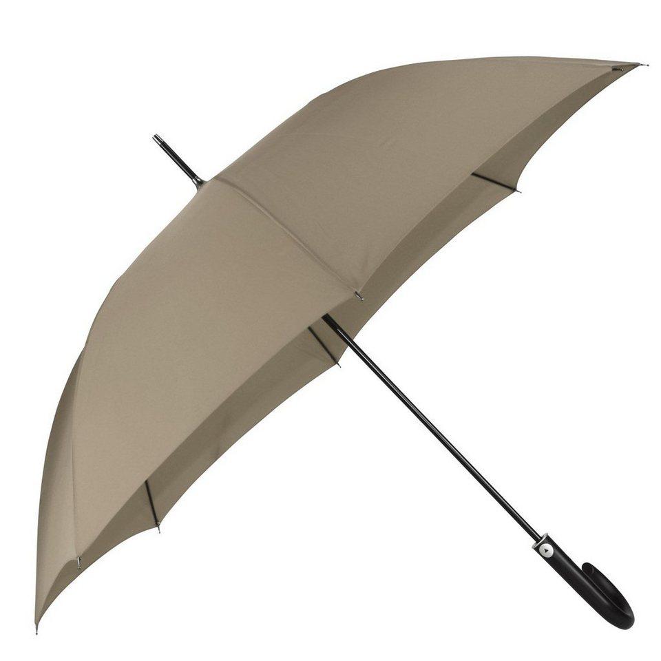 Happy Rain Long AC Kinematic Stockschirm 87 cm in taupe