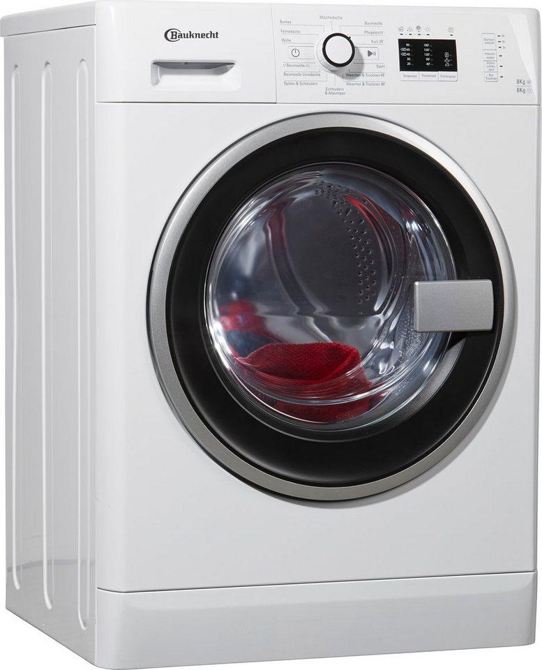 BAUKNECHT Waschtrockner WATK Prime 8614, A, 8 kg / 6 kg, 1.400 U/Min in weiß