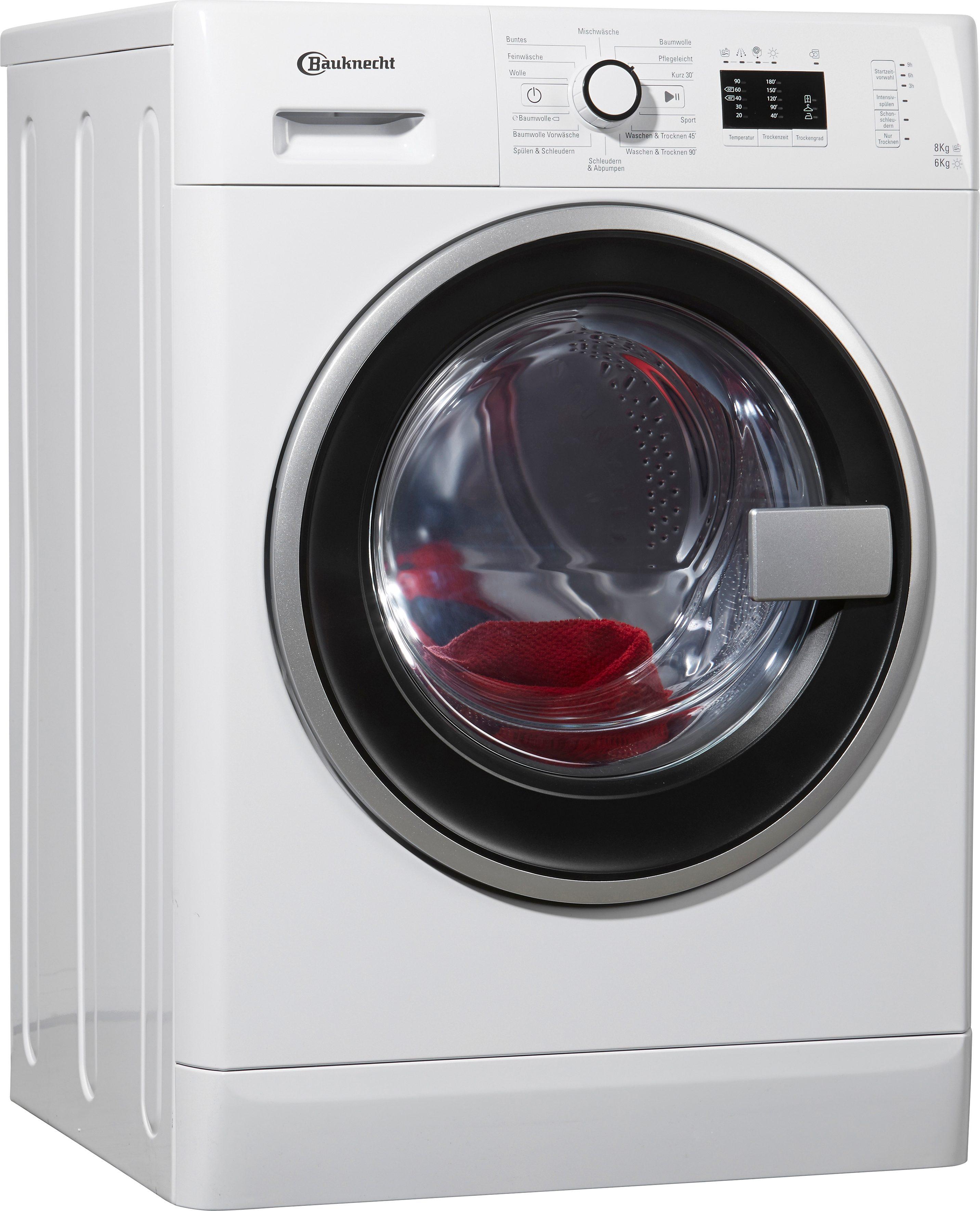 BAUKNECHT Waschtrockner WATK Prime 8614, A, 8 kg / 6 kg, 1.400 U/Min