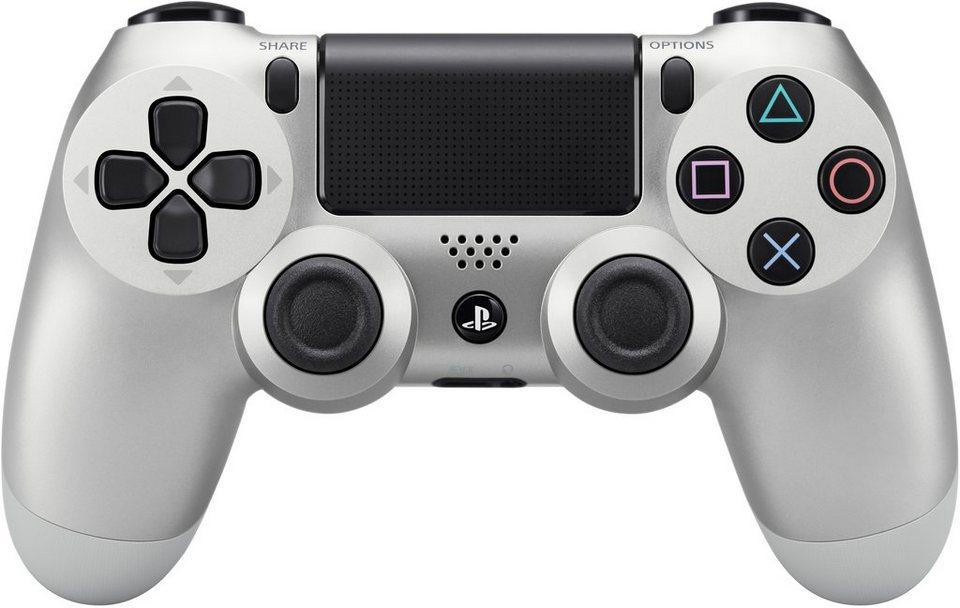 PS4 Wireless Dualshock Controller in Silberfarben