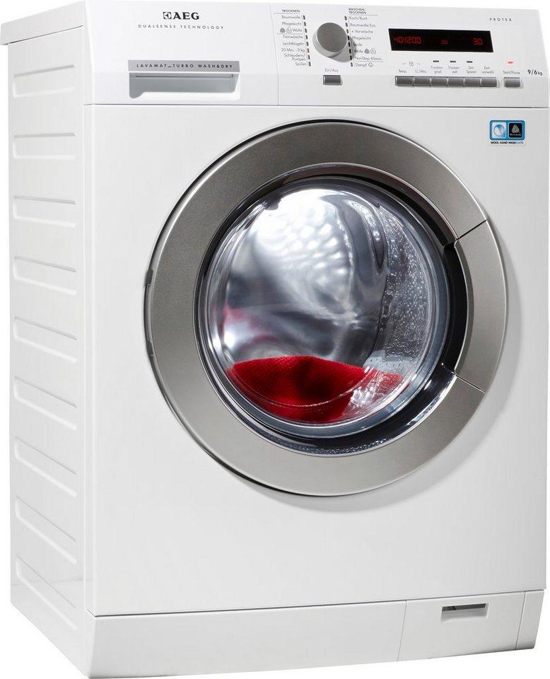 AEG Waschtrockner Lavamat 75694NWD, A, 9 kg / 6 kg, 1.600 U/Min in weiß