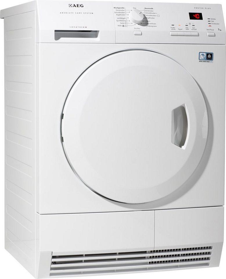 AEG Trockner T65770IH4, A++, 7 kg in weiß