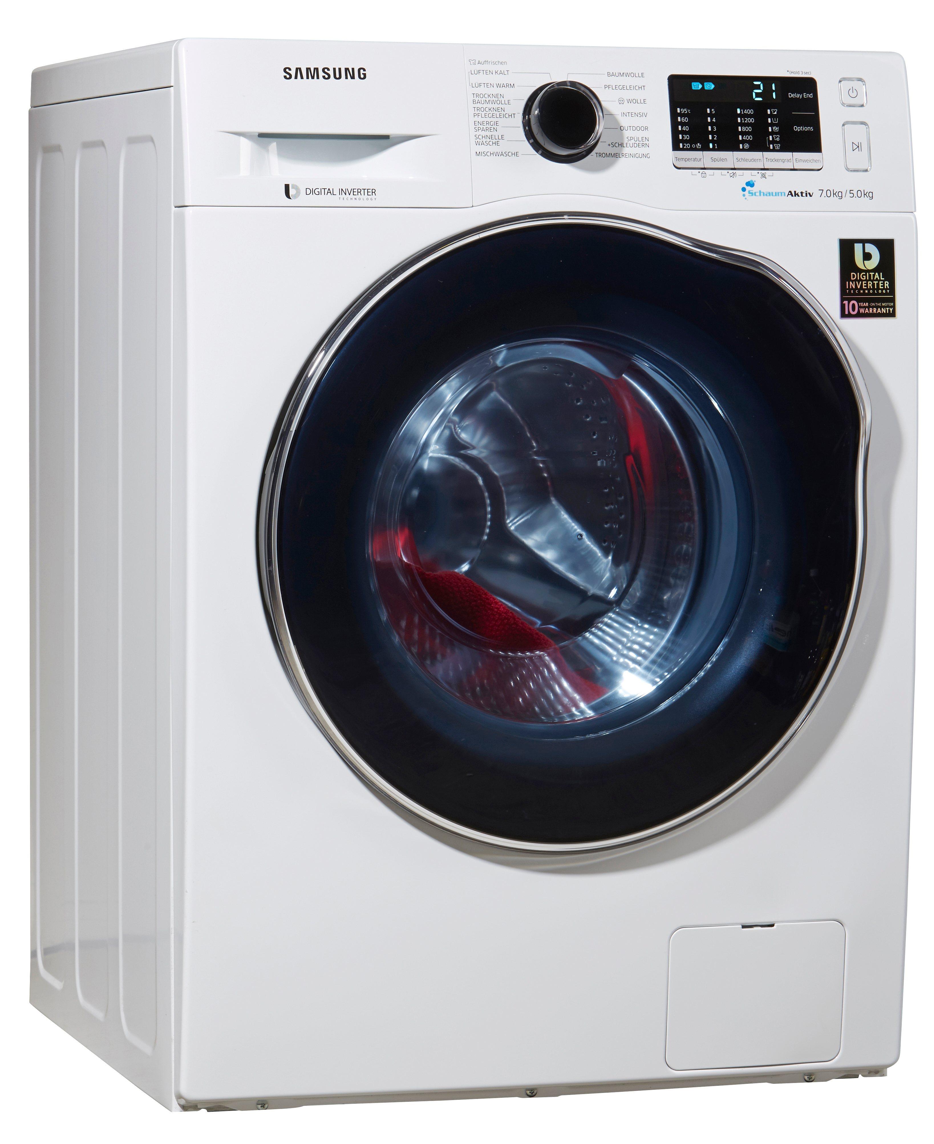 preisvergleich samsung waschtrockner wd70j5400aw eg a 7 kg 5 kg willbilliger. Black Bedroom Furniture Sets. Home Design Ideas