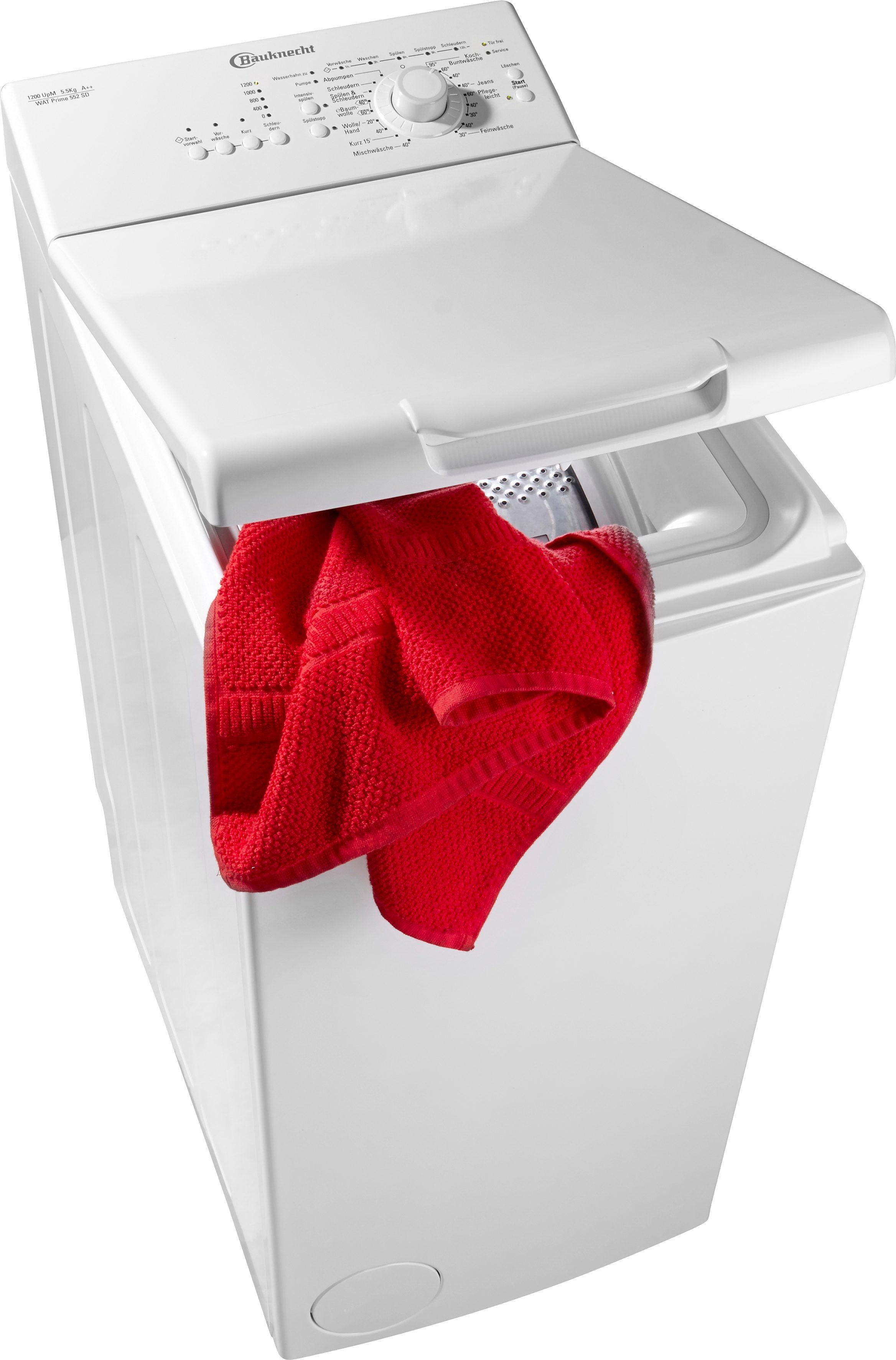 BAUKNECHT Waschmaschine Toplader WAT Prime 552 SD, A++, 5,5 kg, 1200 U/Min