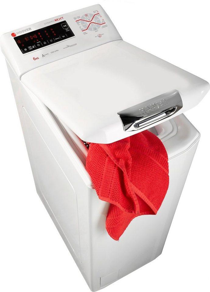 Hoover Waschmaschine Toplader Next S 362 T, A+++, 6 kg, 1200 U/Min in weiß