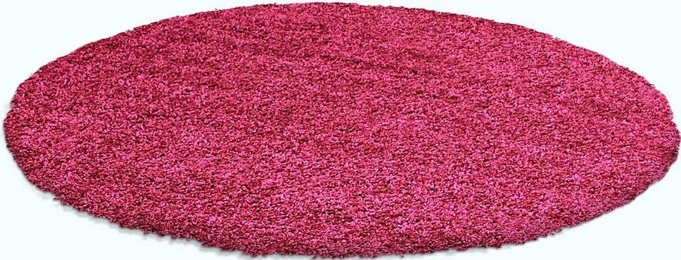 Hochflor-Teppich rund, Trend-Teppiche, »Shaggy 8000«, Höhe 30 mm in pink