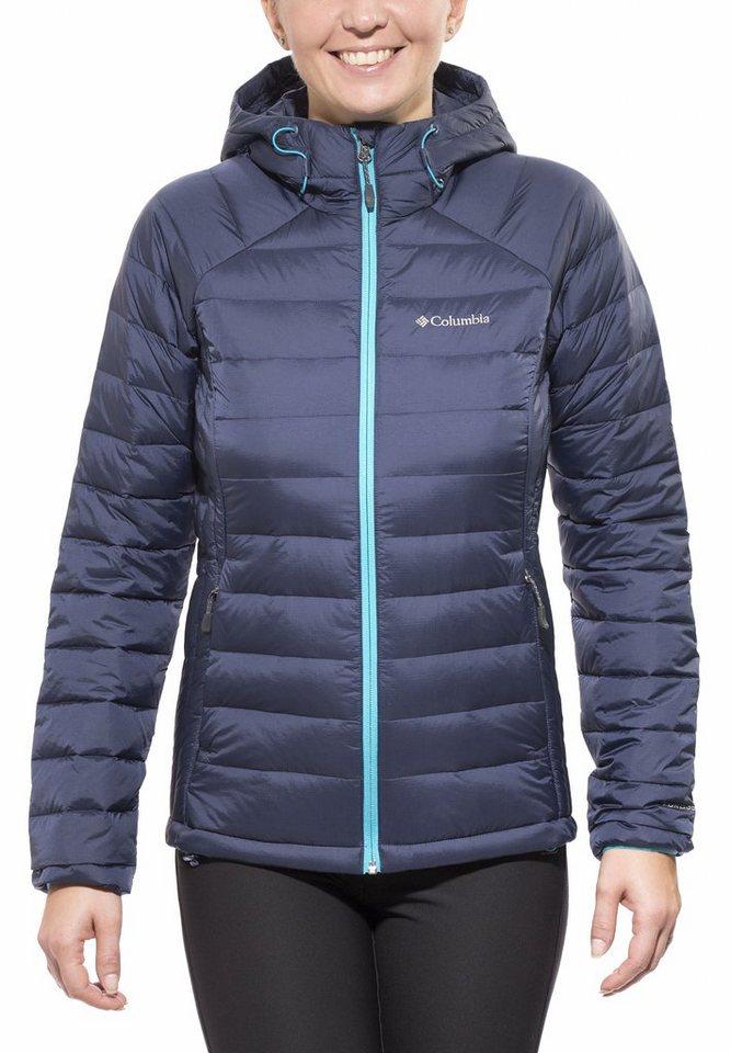 Columbia Outdoorjacke »Platinum Plus 860 TurboDown Hooded Jacket Women« in blau
