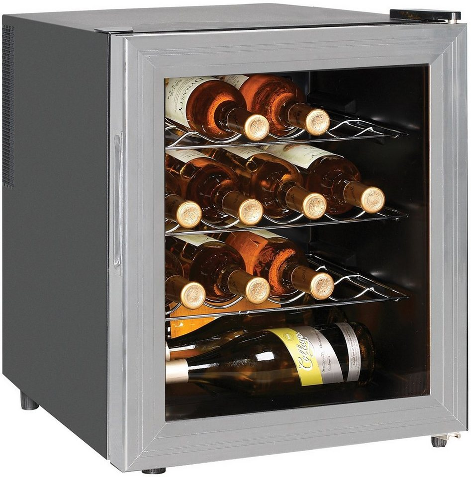 Silva Homeline Thermoelektrischer Weinkühlschrank WKS48TE, Energieklasse B, 43 cm hoch in schwarz