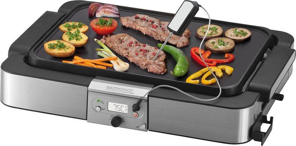 Gastroback Tischgrill 42531 Design Tisch-Grill Advanced in silber