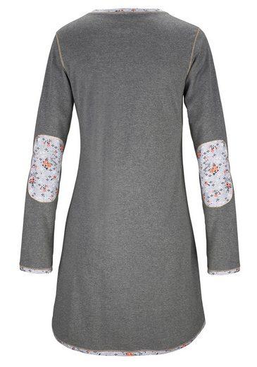 Chemise De Nuit Rebelle Avec Des Coudières En Imprimé Floral