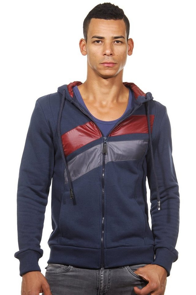 CATCH Kapuzensweatjacke slim fit in navy