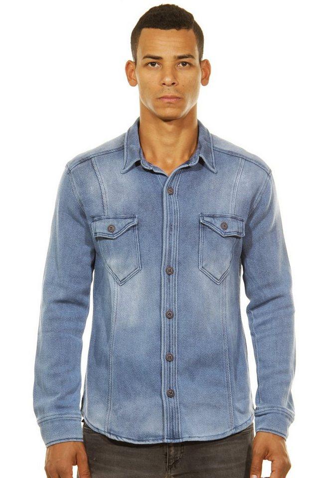 CATCH Langarmhemd slim fit in blau